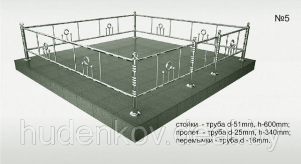 Ограда нержавейка 5